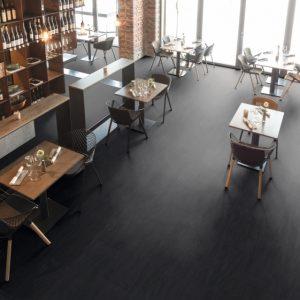 Egger dark santino stone járólap hatású fekete vízálló laminált padló