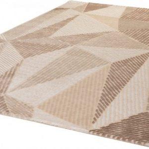Bolero szőnyeg barnás színű, geometria mintás szőnyeg.